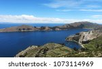 island of the sun. landscape of ... | Shutterstock . vector #1073114969