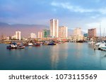 skyline of downtown and marina... | Shutterstock . vector #1073115569