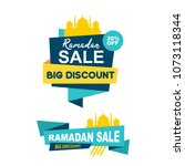 ramadan kareem big sale with...   Shutterstock .eps vector #1073118344