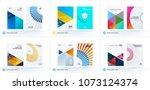 material design template.... | Shutterstock .eps vector #1073124374