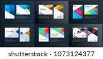 material design template.... | Shutterstock .eps vector #1073124377