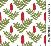 sumac. plant. inflorescence ... | Shutterstock .eps vector #1073130341
