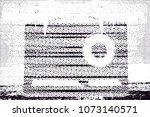 vintage transistor radio from... | Shutterstock .eps vector #1073140571