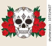 vector illustration of a skull | Shutterstock .eps vector #107314637