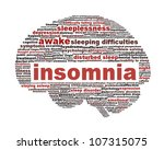 insomnia symbol isolated on... | Shutterstock . vector #107315075