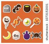 halloween ornament item | Shutterstock .eps vector #1073152031