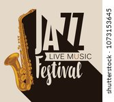 vector poster for a jazz...   Shutterstock .eps vector #1073153645