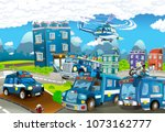 cartoon stage with different... | Shutterstock . vector #1073162777