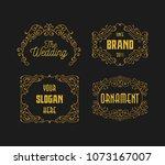 vintage elegance retro ornament ... | Shutterstock .eps vector #1073167007