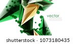 vector color glass crystals on... | Shutterstock .eps vector #1073180435