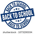 back to school blue round... | Shutterstock .eps vector #1073200334