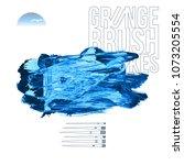 blue brush stroke and texture.... | Shutterstock .eps vector #1073205554