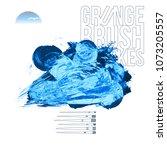 blue brush stroke and texture.... | Shutterstock .eps vector #1073205557