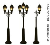 street lamps collection lantern ...   Shutterstock .eps vector #1073207999