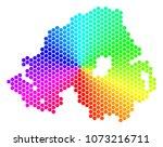 spectrum hexagon northern... | Shutterstock .eps vector #1073216711