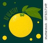 fresh vector illustration with... | Shutterstock .eps vector #1073217149