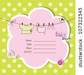 baby arrival card | Shutterstock .eps vector #107322545