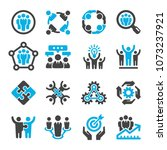 teamwork partnership icon set   Shutterstock .eps vector #1073237921