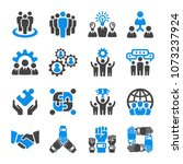 teamwork partnership icon set | Shutterstock .eps vector #1073237924