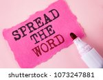 word writing text spread the...   Shutterstock . vector #1073247881