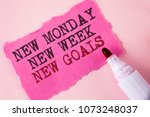 word writing text new monday...   Shutterstock . vector #1073248037