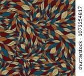 leaves seamless pattern vector ... | Shutterstock .eps vector #1073254817