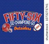 american football logo design... | Shutterstock .eps vector #1073273741