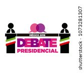 presidential debate. elections... | Shutterstock .eps vector #1073281307