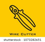 wire cutter vector icon | Shutterstock .eps vector #1073282651