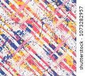 vector seamless bold plaid... | Shutterstock .eps vector #1073282957
