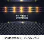 hi tech metallic background... | Shutterstock .eps vector #107328911