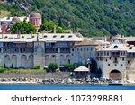 docheiariou monastery near... | Shutterstock . vector #1073298881