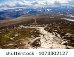 cairngorm mountains and route... | Shutterstock . vector #1073302127