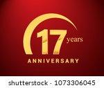 17 years golden anniversary... | Shutterstock .eps vector #1073306045