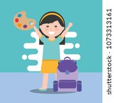 back to school design | Shutterstock .eps vector #1073313161