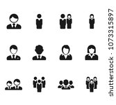 business people icon set | Shutterstock .eps vector #1073315897