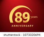 89 years golden anniversary... | Shutterstock .eps vector #1073320694