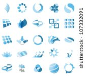 business icons | Shutterstock .eps vector #107332091