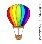cute cartoon air balloon.... | Shutterstock .eps vector #1073328011