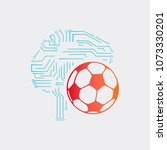 ball bet logo template  ball... | Shutterstock .eps vector #1073330201