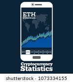 cryptocurrency trading concept...   Shutterstock .eps vector #1073334155