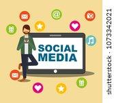 people social media | Shutterstock .eps vector #1073342021