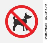 prohibiting signs dog  walking... | Shutterstock .eps vector #1073345645