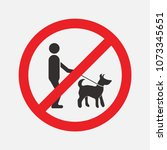 prohibiting signs dog  walking... | Shutterstock .eps vector #1073345651