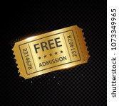 vector golden tickets and... | Shutterstock .eps vector #1073349965