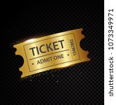 vector golden tickets and... | Shutterstock .eps vector #1073349971