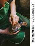 experienced footwear industry... | Shutterstock . vector #1073350385
