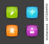 set of 4 barbecue icons set.... | Shutterstock . vector #1073354954