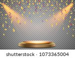stand of the podium with... | Shutterstock .eps vector #1073365004