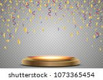 stand of the podium with... | Shutterstock .eps vector #1073365454
